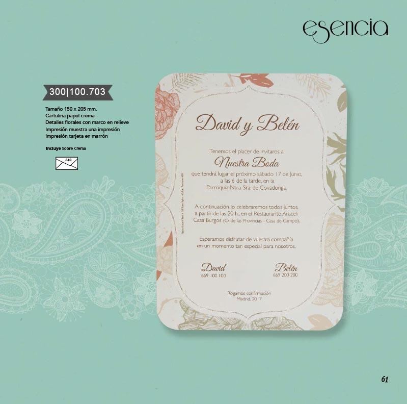 Boda catálogo esencia | Bouquet 300100703