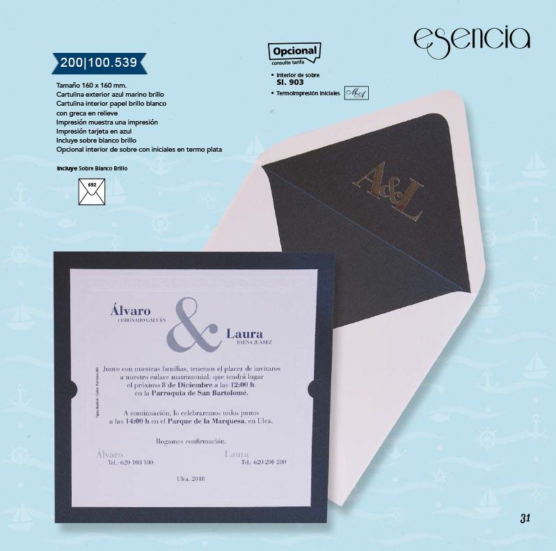 Boda catálogo esencia | Marina 200100539