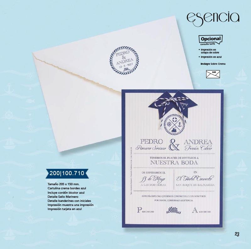 Boda catálogo esencia | Marina 200100710