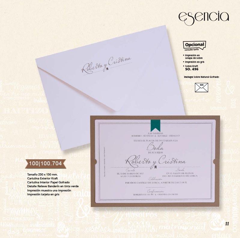 Boda catálogo esencia | Natural 100100704