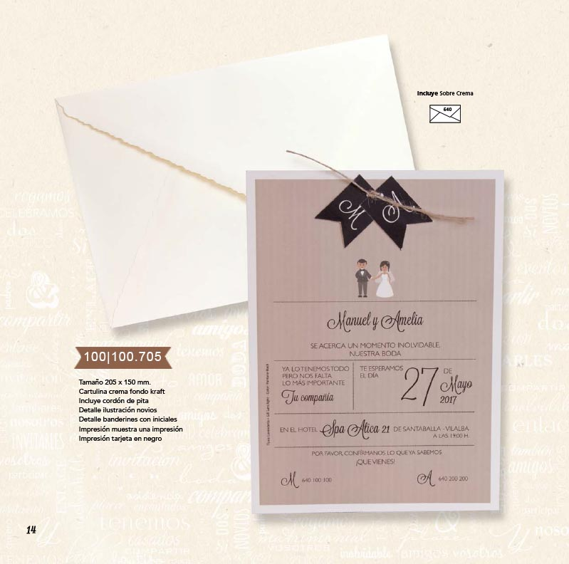 Boda catálogo esencia | Natural 100100705