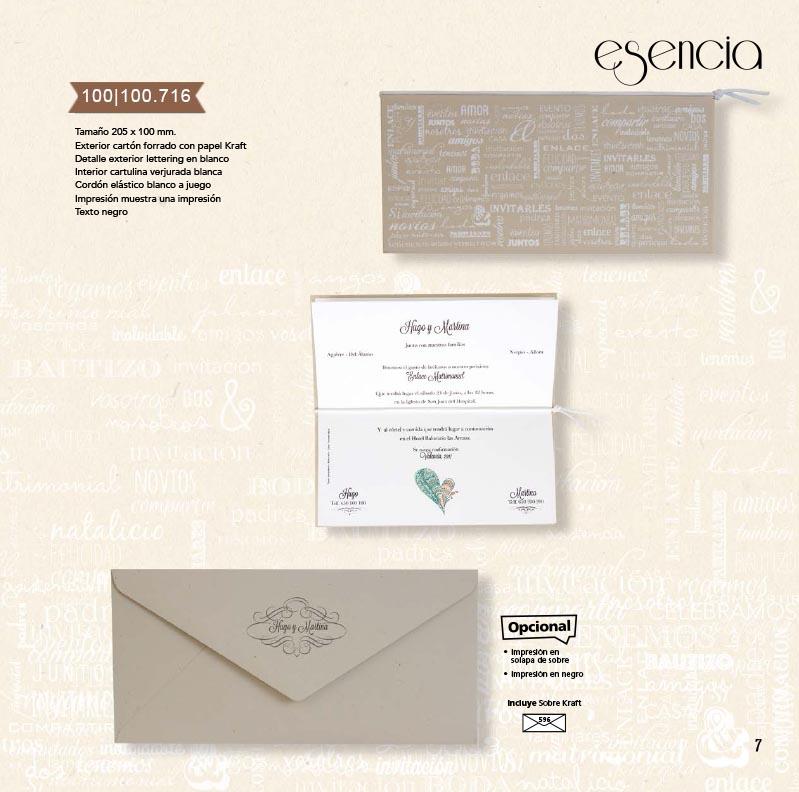 Boda catálogo esencia | Natural 100100716