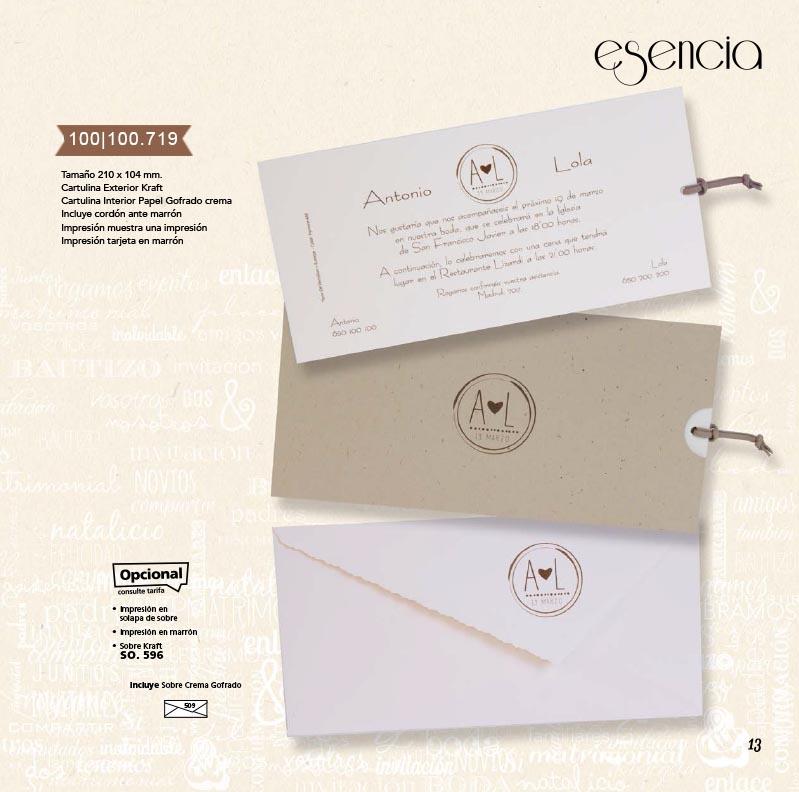 Boda catálogo esencia | Natural 100100719