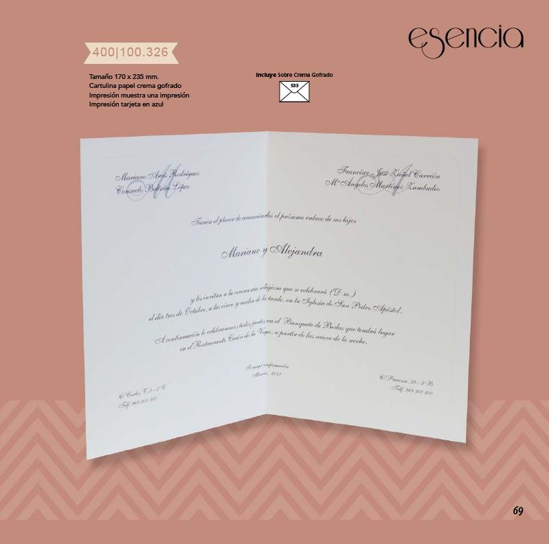 Boda catálogo esencia | Tradición 400100326