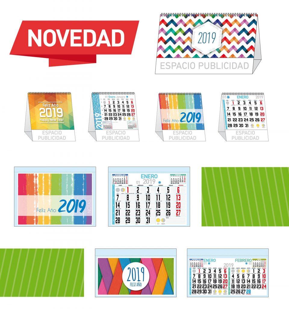 Calendarios Imprenta Coigsa | Novedades 2019