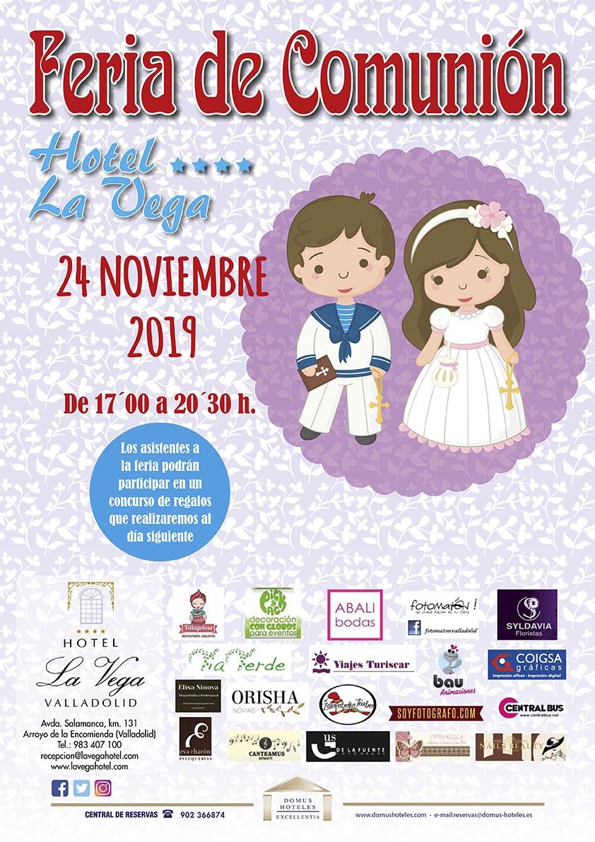 Cartel Feria de Comunión - 2019   Hotel la Vega Arroyo de la Encomienda